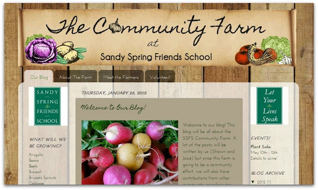 The Community Farm at Sandy Spring Friends School