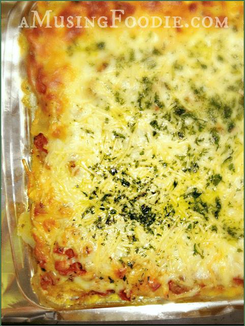 Spinach, Mushroom and Italian Sausage Lasagna