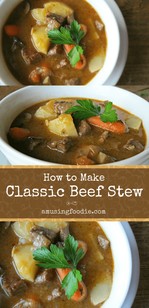 Learn how to make classic beef stew! It's the perfect hearty meal to feed a crowd on a blustery day.
