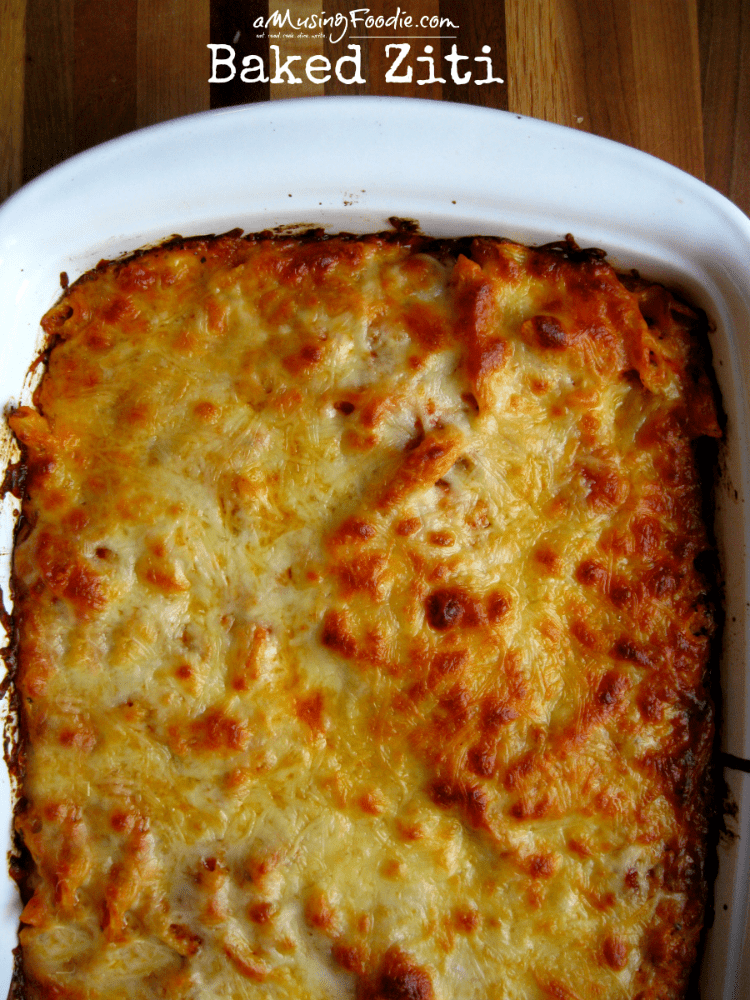 Simple Homemade Baked Ziti - ooey, gooey, delicious...and EASY!