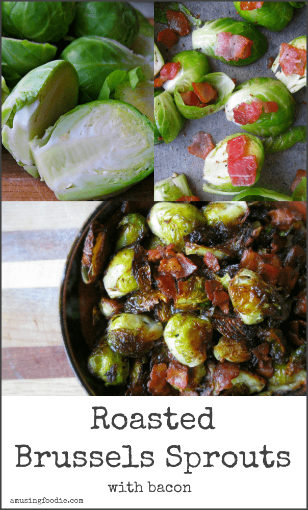 Roasted Brussels Sprouts with Bacon are an amazing side dish (or yummy all by themselves)!