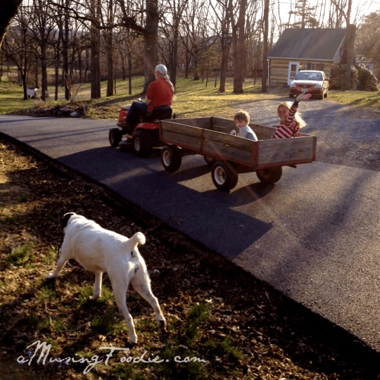 Wagon Ride at the Farm