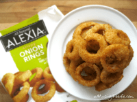 Homemade Cheeseburgers with Alexia Onion Rings | (a)Musing ...