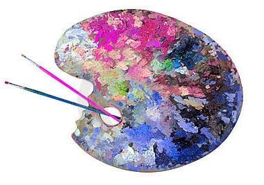 palette artiste peintre art couleurs