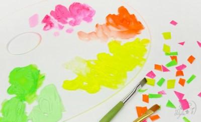 peinture artiste couleurs fluos
