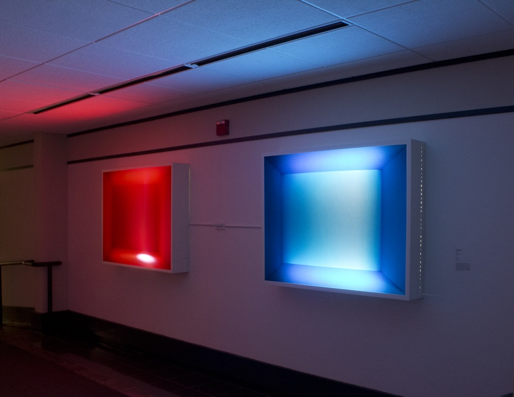 Amy Ho Blue And Red Light Boxes
