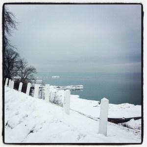 Scenes from a winter run.