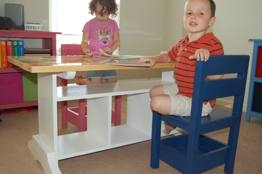 Ana White Children39s Homeschool Craft Play Area In Our