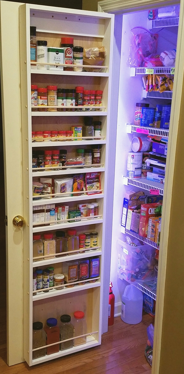 Ana White Pantry Door Storage 78 Inch Tall Version