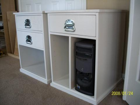 Ana White Build Your Own Office - Narrow File Drawer Base Unit