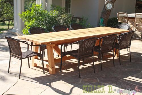 Plan Pour Fabriquer Une Table De Jardin En Bois Maison