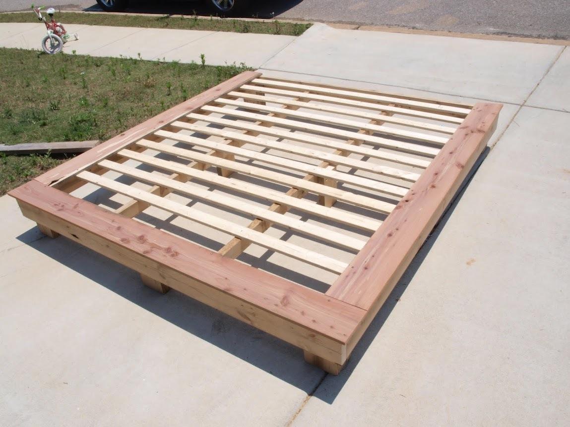 King size platform frame