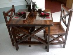 Pristine Ana Rustic X Table Chairs Diy Projects Rustic Chair Cushions Rustic Chairs Diy