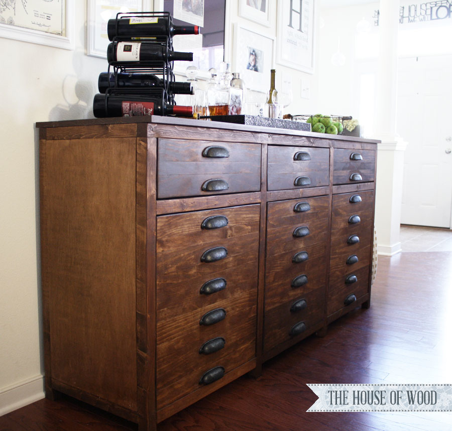 Ana White Printers Triple Console Cabinet - DIY Projects
