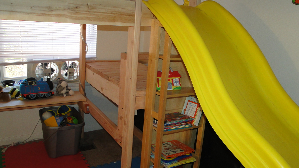 PDF DIY Bunk Bed Plans Slide Download built in office desk