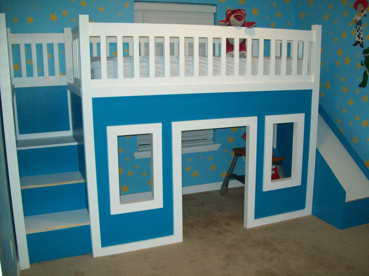 Playhouse loft bed with stairs and slide playhouse loft bed loft bed