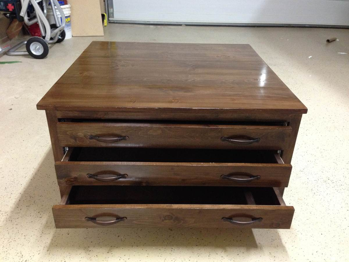 Ana White 6 Drawer Coffee Table Diy Projects