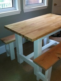 Ana White   Farmhouse Table with Butcher Block - DIY Projects