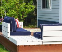 Ana White | Platform Outdoor Sectional with End Table ...