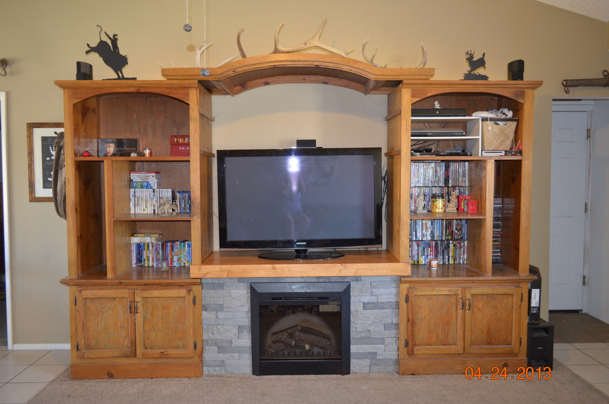 Diy Entertainment Center With Electric Fireplace Do It
