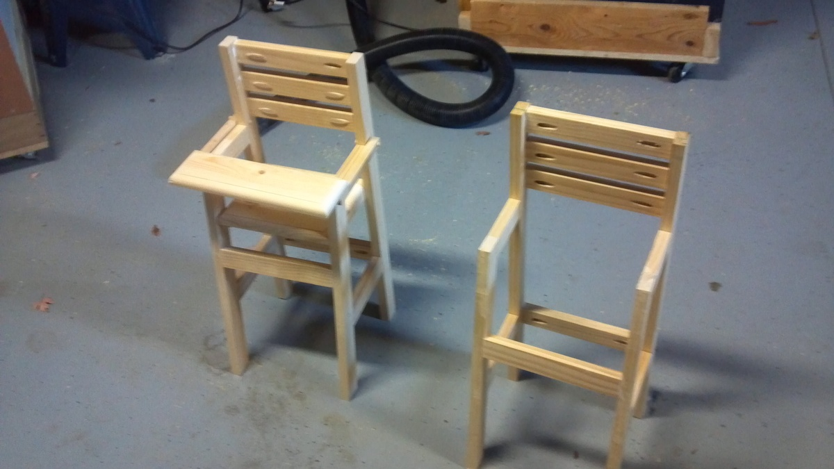 Ana White High Chair For 18quot Dolls Diy Projects