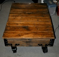 Ana White | DIY Factory cart coffee table - DIY Projects