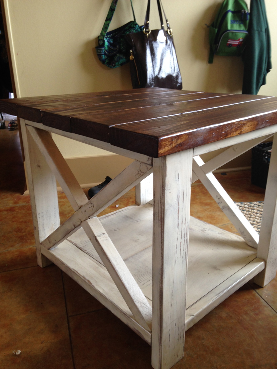 rustic side table kitchen side table