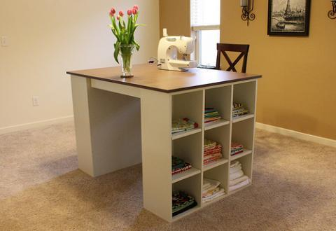 Ana White Cubby Bookcases Modular Office Collection - DIY Projects