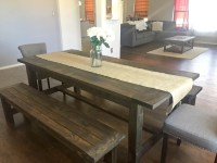 Ana White | Farmhouse Dining Room Table with Benches ...
