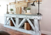 Ana White | DIY Slim Truss Console Table - DIY Projects