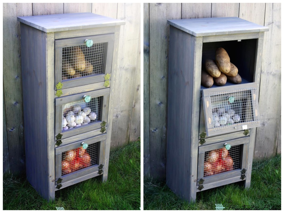 Ana White Vegetable Bin Cupboard Diy Projects