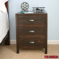 Ana White | DIY 3 Drawer Nightstand - DIY Projects