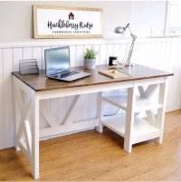 Ana White | Farmhouse X Desk - DIY Projects