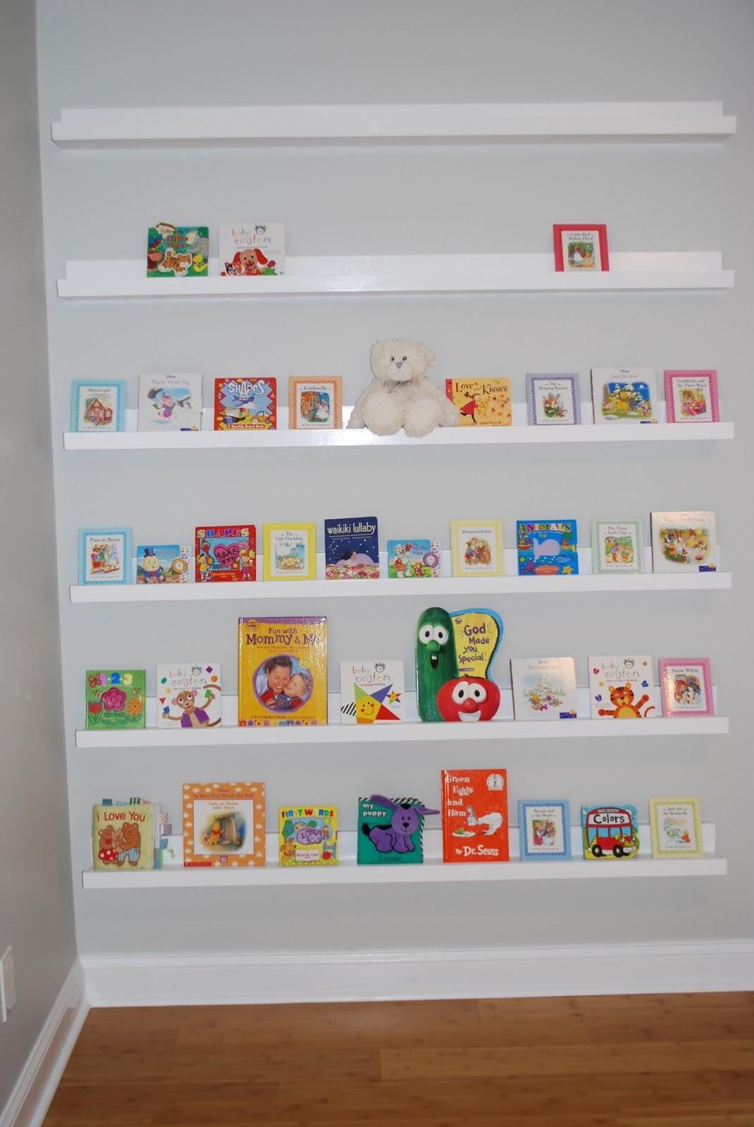 Ana White Nursery Room Book Shelves From 10 Ledge Plan