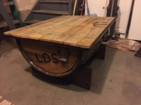 Ana White | Whiskey Barrel Coffee Table/Ice Chest Beer ...