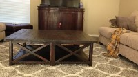 Ana White | Rustic X Square Oversized Coffee Table - DIY ...