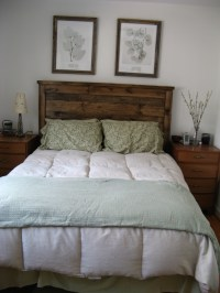 Ana White | First Project- reclaimed wood look Queen ...
