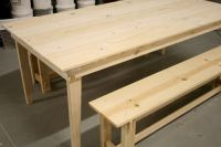 Cool Diy farmhouse table and bench plans ~ Ambla