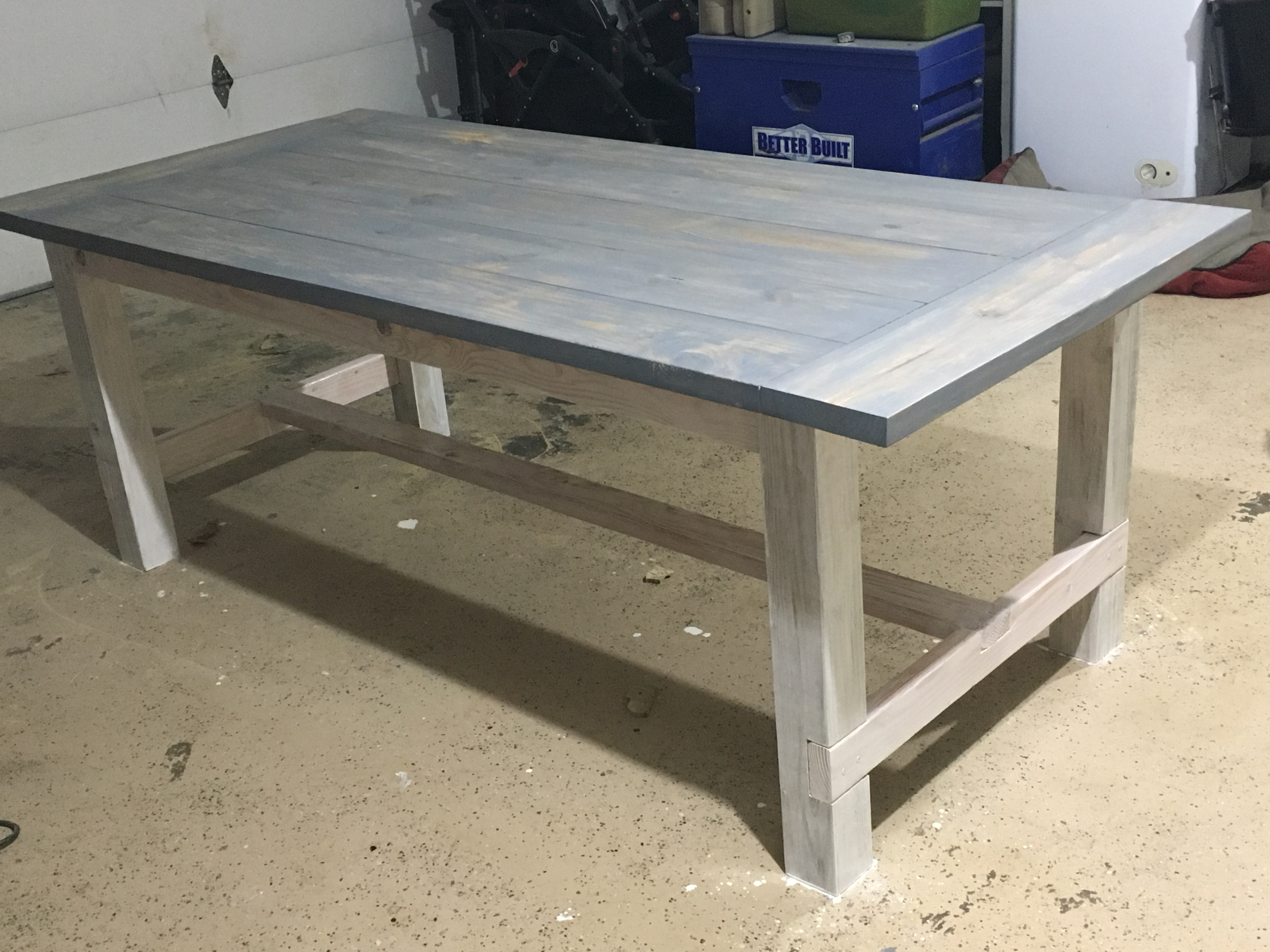 Ana White Farmhouse Table And Benches Diy Projects