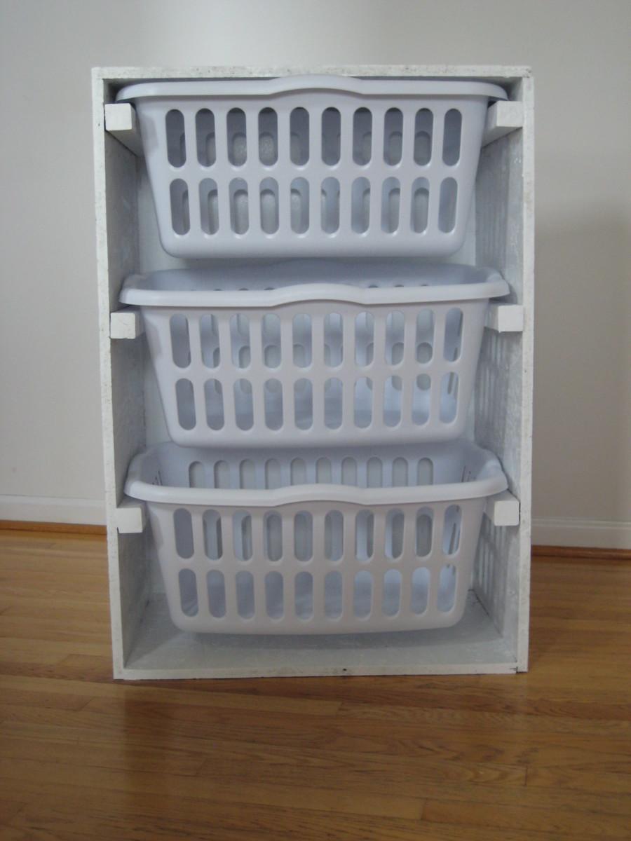 Ana White Laundry Basket Organizer Diy Projects