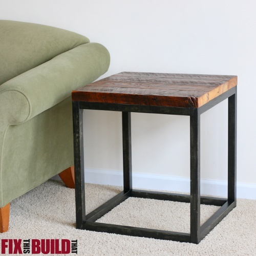 Ana White   Reclaimed Industrial Side Table - Diy Projects