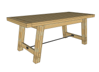 Dining Table: Free Dining Table Bench Plans