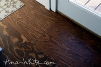 Staining Wood Flooring - Distressed Wood Look Created By ...