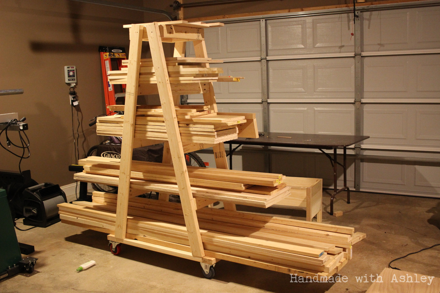 Ana White Diy Mobile Lumber Rack Diy Projects