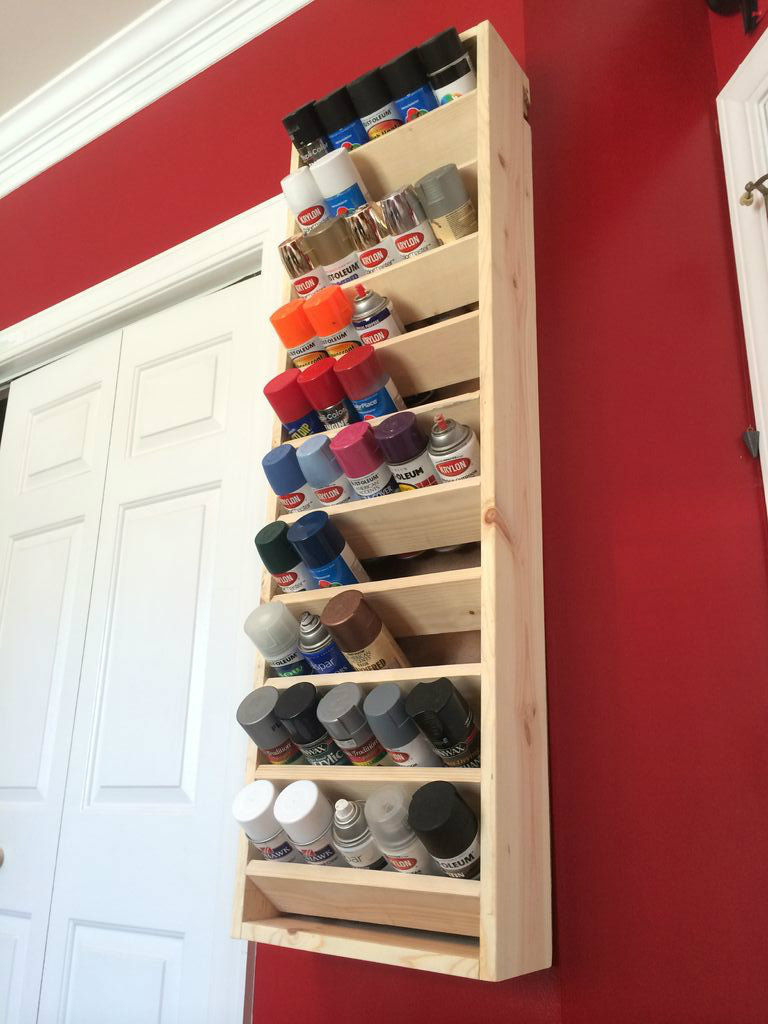 Ana White Spray Paint Storage Featuring Instructables