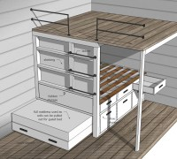 Ana White | Tiny House Loft with Bedroom, Guest Bed ...