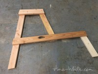 Ana White   Firepit Benches with Table and Storage - DIY ...