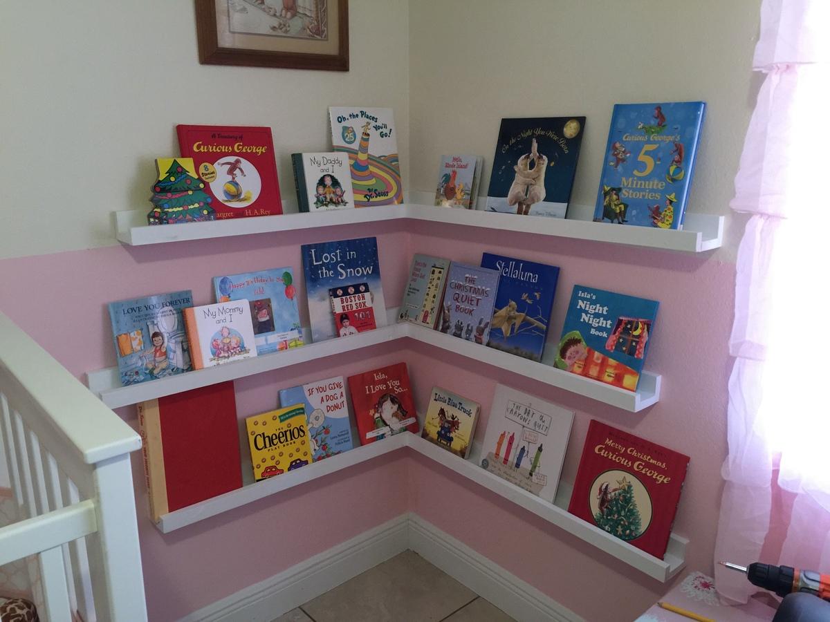 Ana White Corner Nursery Book Shelves Diy Projects