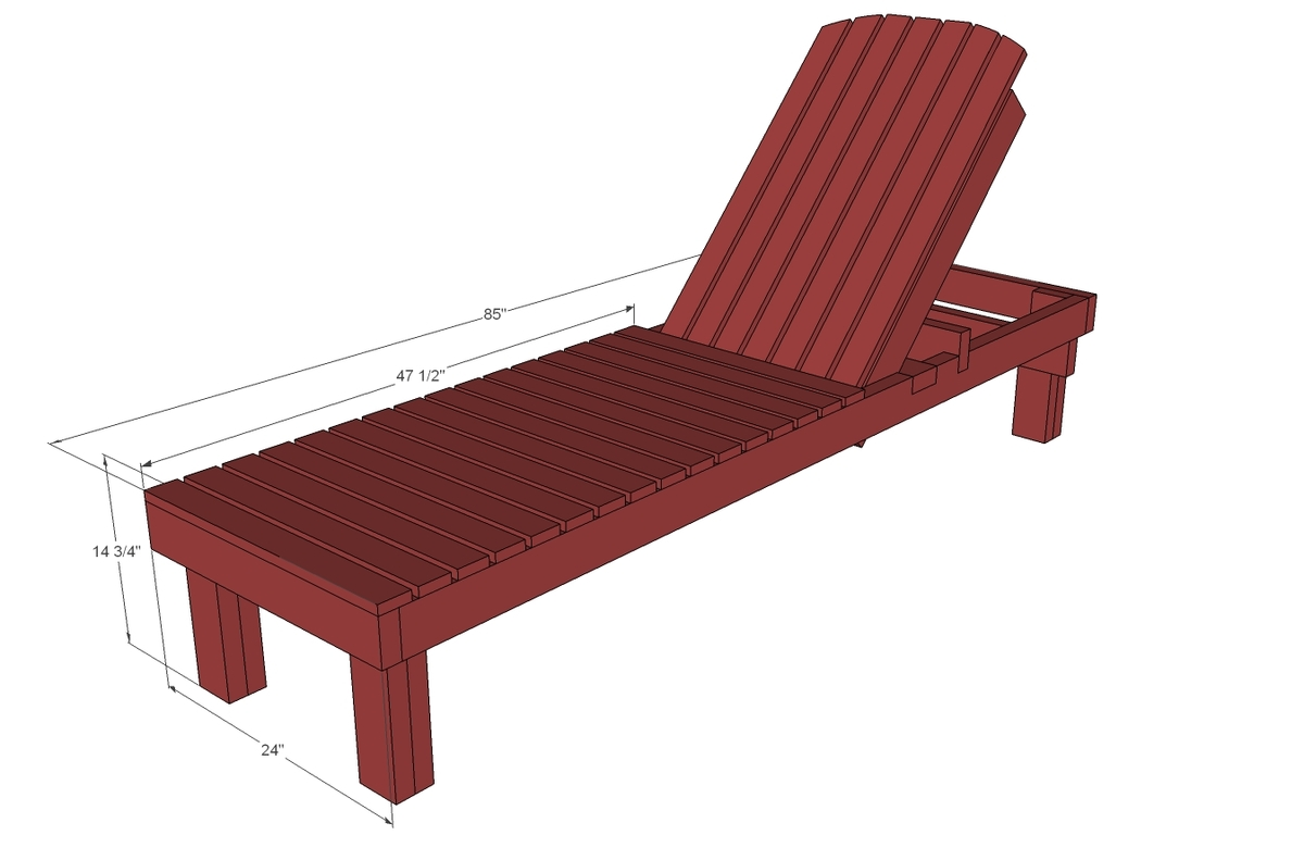 Outdoor Wooden Loungers Plans 5 Elegant Sunbathing