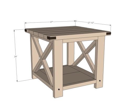 Medium Of Homemade Rustic Furniture